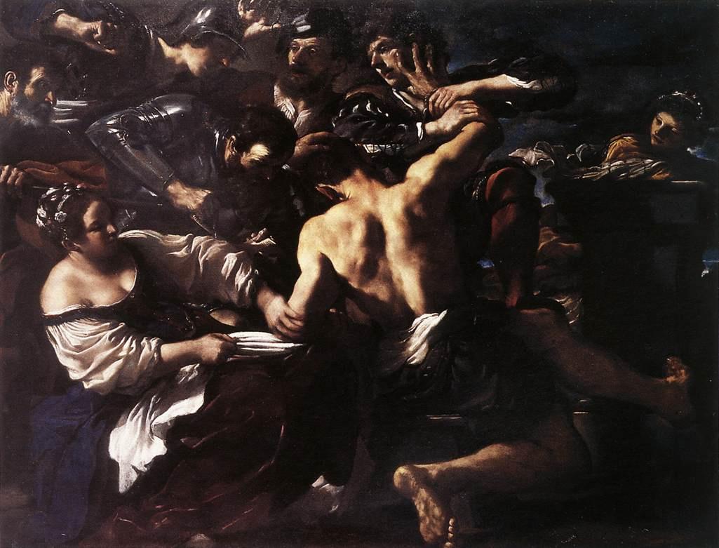 Giovanni Francesco Guercino. Samson captured by the Philistines