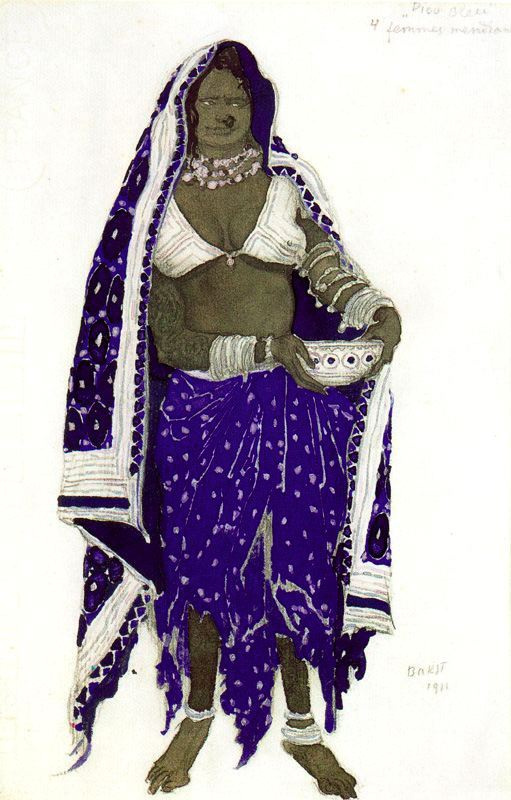 Lev Samoilovich Bakst (Leon Bakst). Costume design for the ballet Blue God