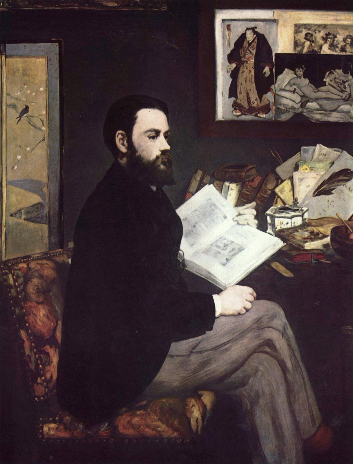 Edouard Manet. Portrait Of Emile Zola