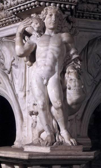 Niccolo Pisano. Allegory of strength. Relief of the pulpit of the Baptistery in Pisa