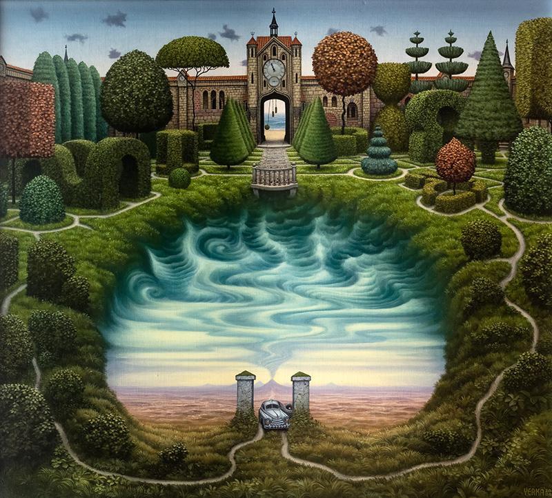 Jacek Yerka. Secret garden