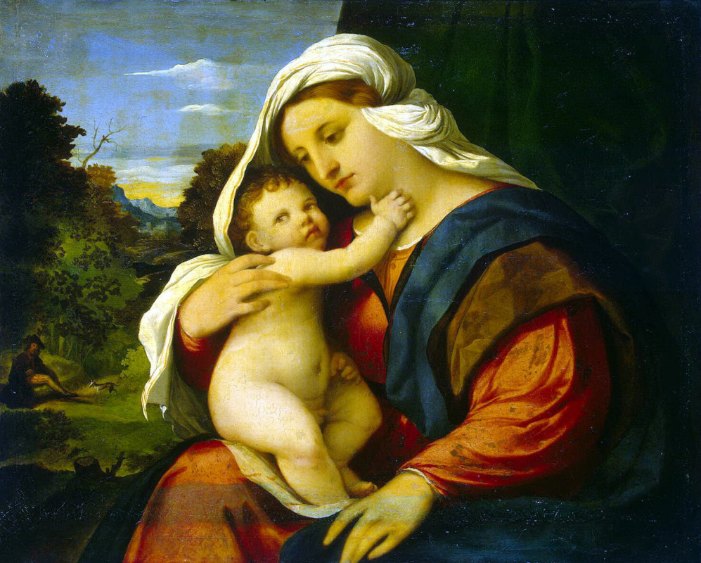 Якопо Пальма Старший. Мадонна с младенцем