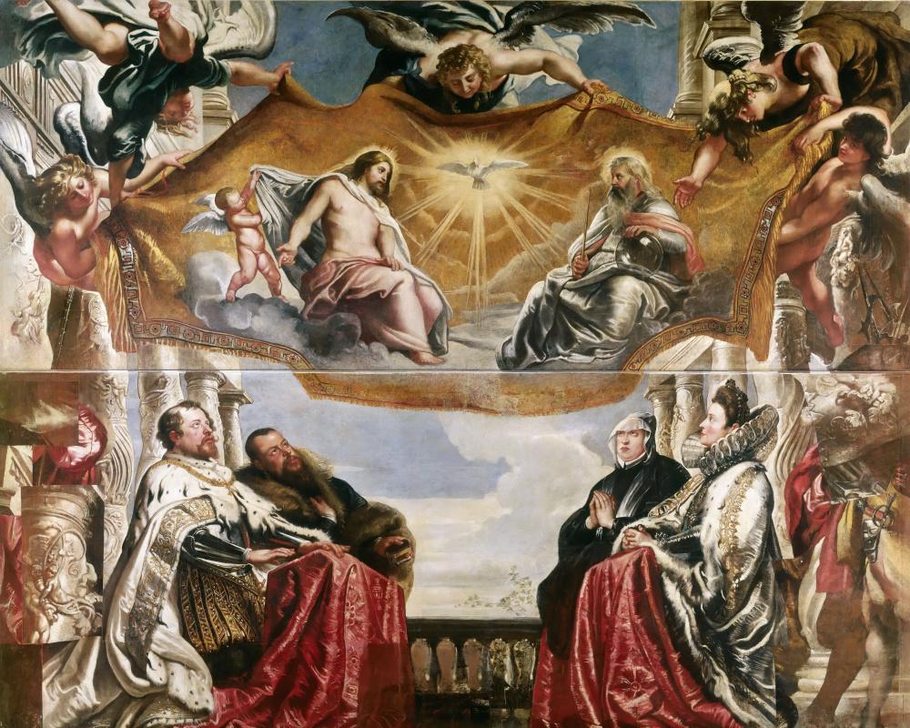Питер Пауль Рубенс. Семейство Гонзага поклоняется Святой Троице