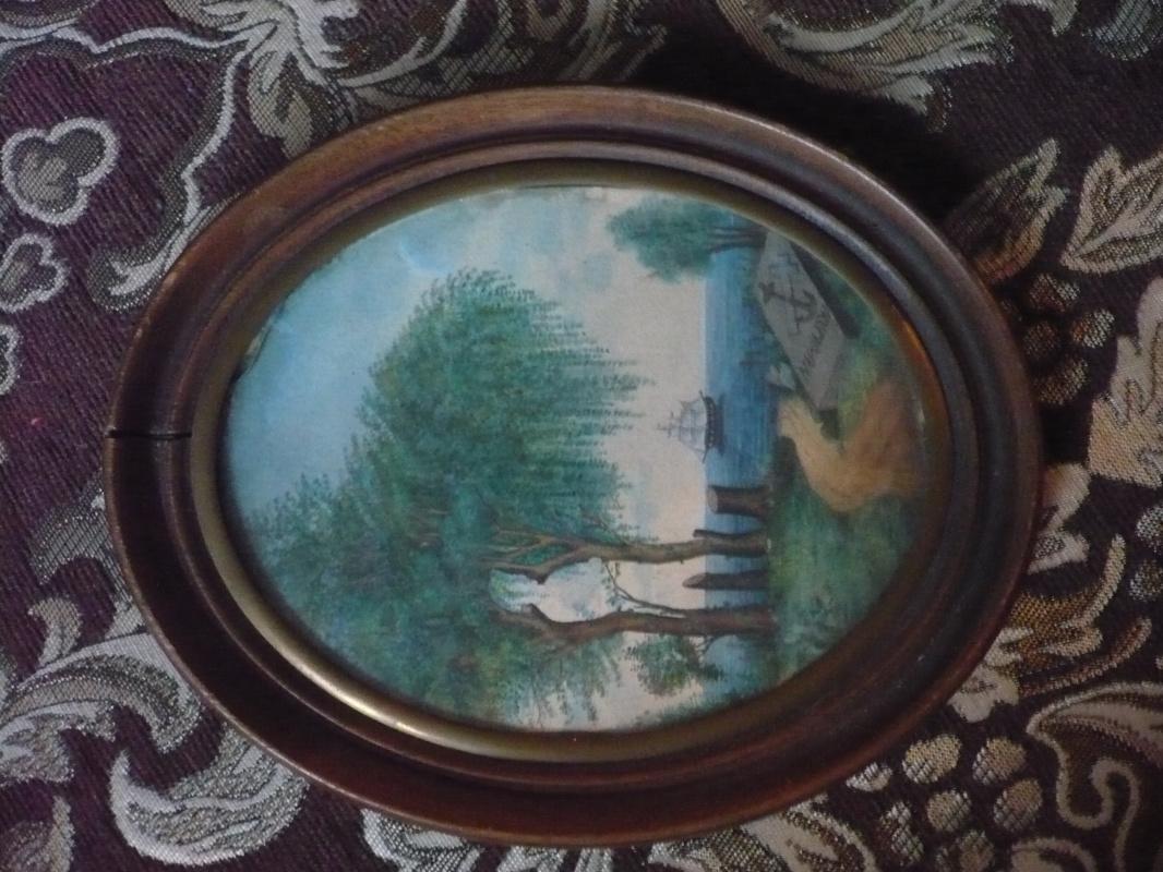 Неизвестный  художник. Призрак Наполеона на острове св. Елены.