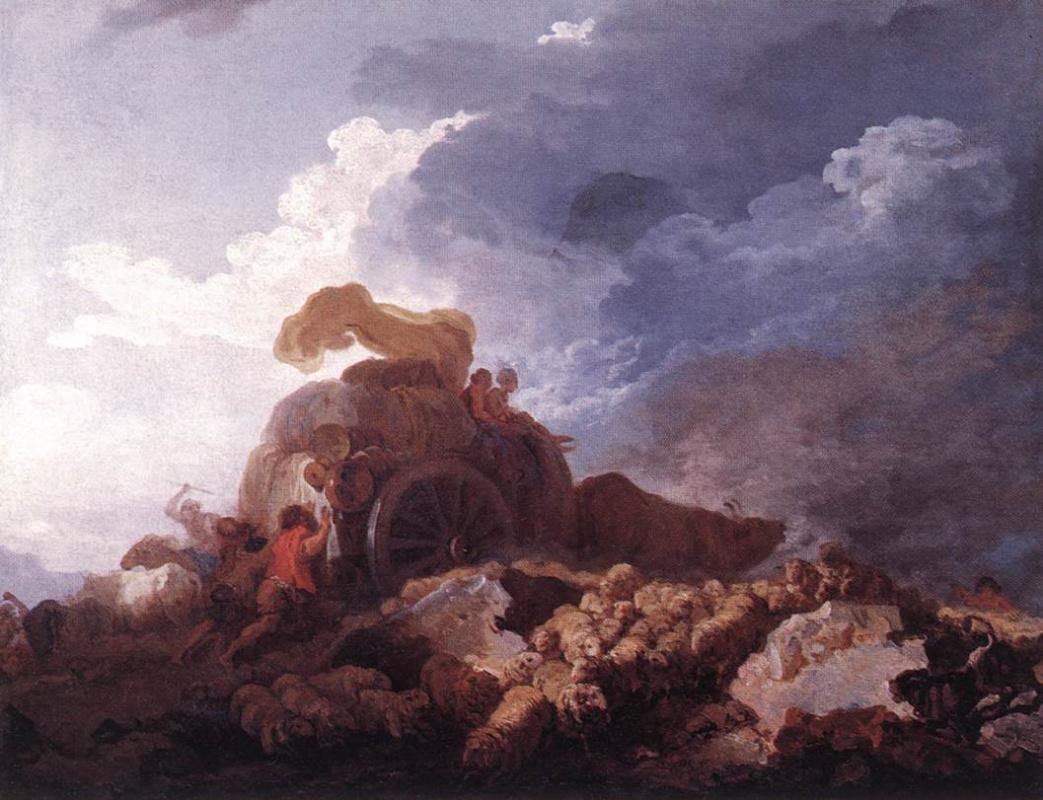 Jean-Honore Fragonard. The storm