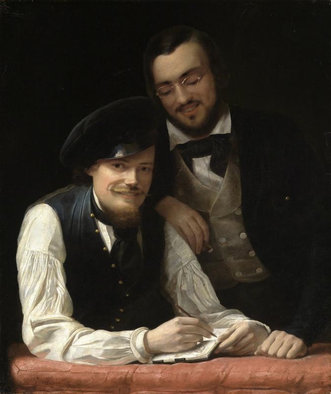 Франц Ксавер Винтерхальтер. Автопортрет с братом Германом