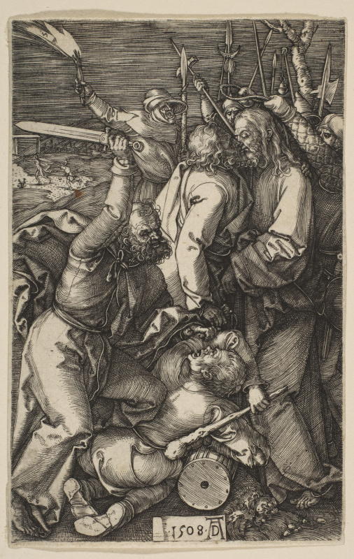 "Albrecht Dürer. The Betrayal Of Christ. From the cycle ""the passion of the Christ"""