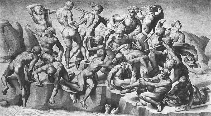Michelangelo Buonarroti. The battle of Cascina