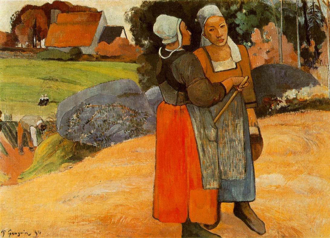 Поль Гоген. Бретонские крестьянки