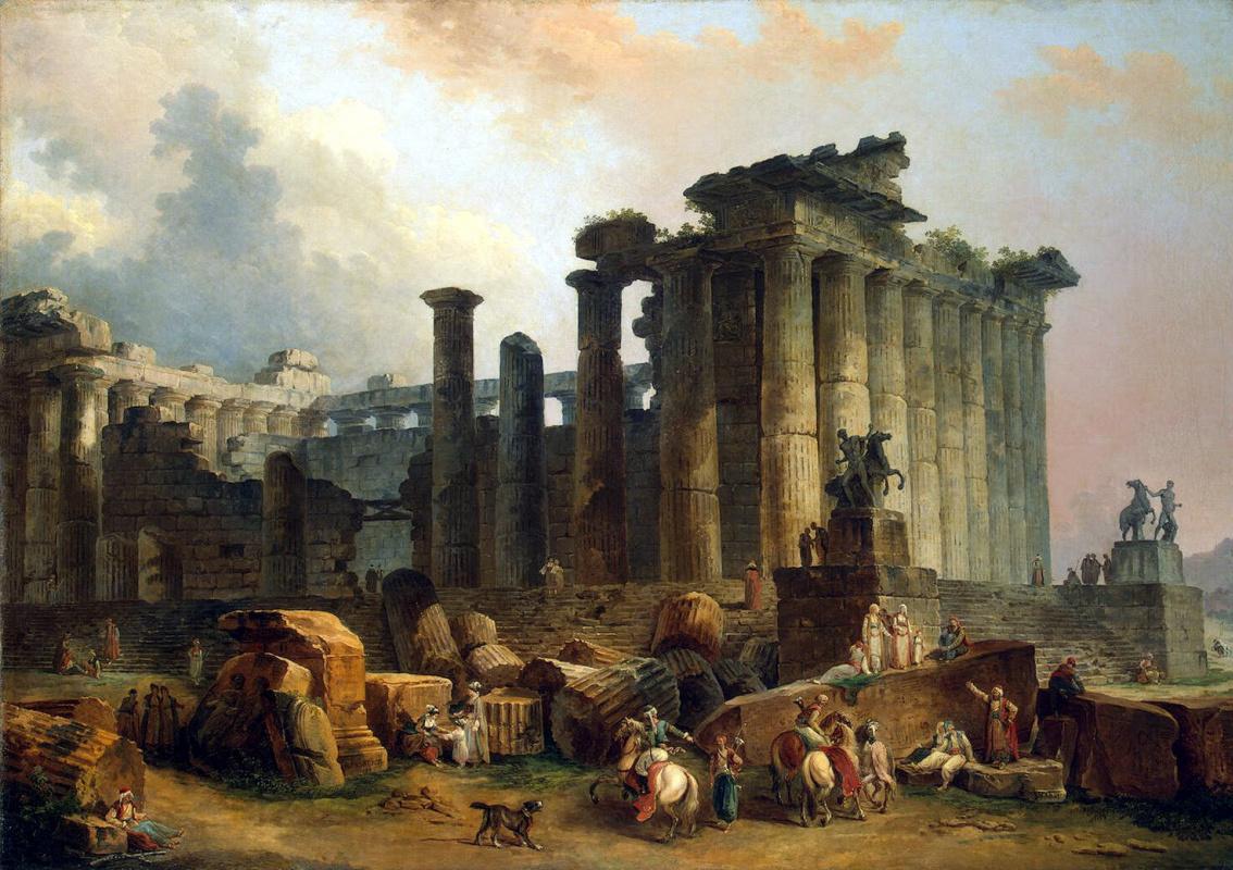 Гюбер Робер. Развалины дорического храма