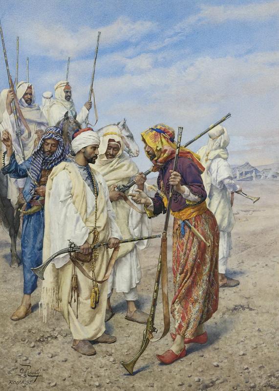 Джулио Розати. Бедуины, готовящие рейд