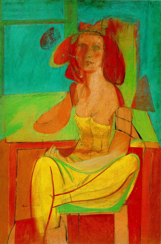 Willem de Kooning. Seated woman