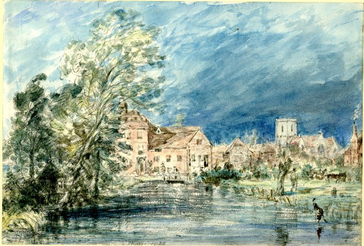 John Constable. The fisherton mill, view from the river