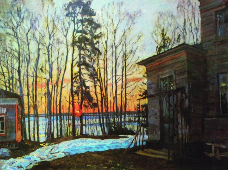 Stanislav Yulianovich Zhukovsky. Day burns down