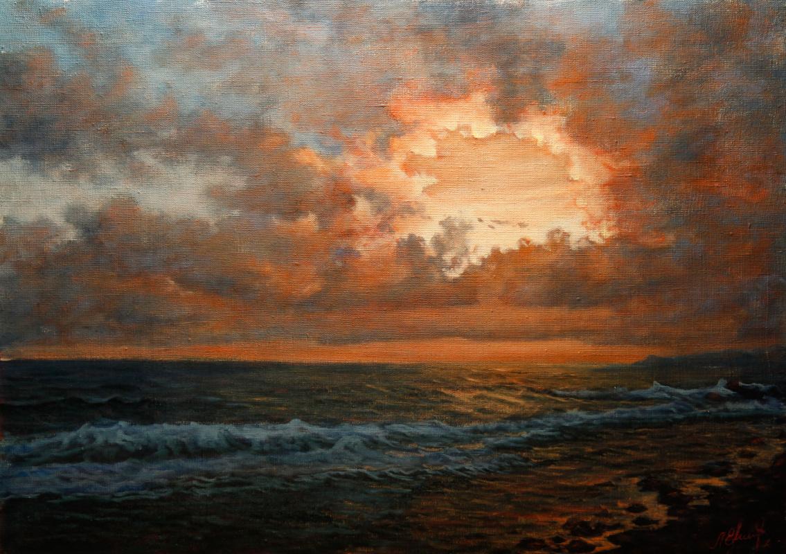 Valery Levchenko. No. 173 Sunset at sea