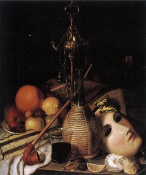 Фридрих Август Шлегель. Натюрморт с маской и артефактами