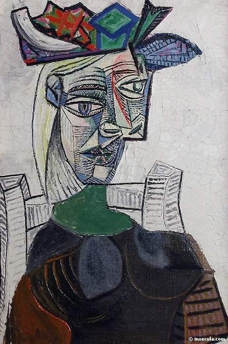 Пабло Пикассо. Женщина в шляпе, сидящая в кресле 3