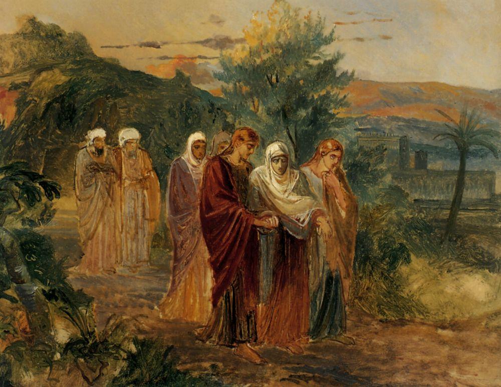 Николай Николаевич Ге. Возвращение с погребения Христа