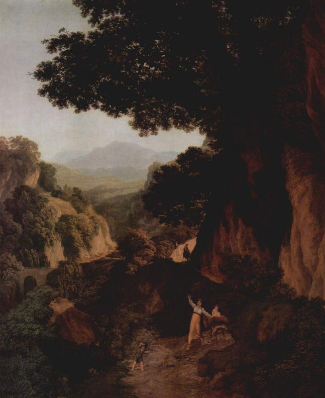 Якоб Вильгельм Мехау. Горный пейзаж