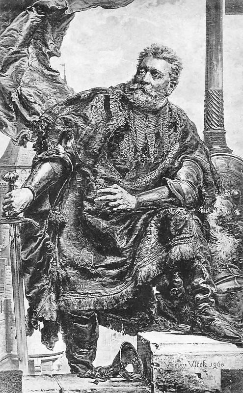 Ян Матейко. Вацлав Вильчек во время защиты монастыря в Тржебице