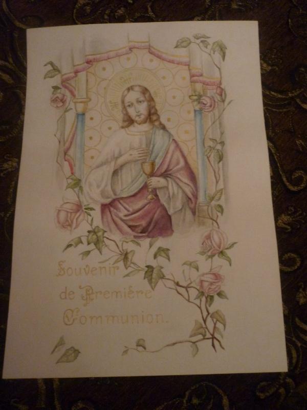 Михаил Тараканов. Souvenir de Première Communion (со старинной французской открытки)