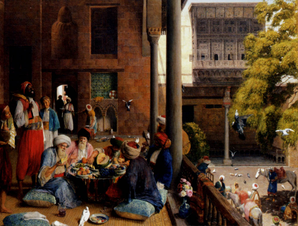 John Frederick Lewis. Lunch in Cairo