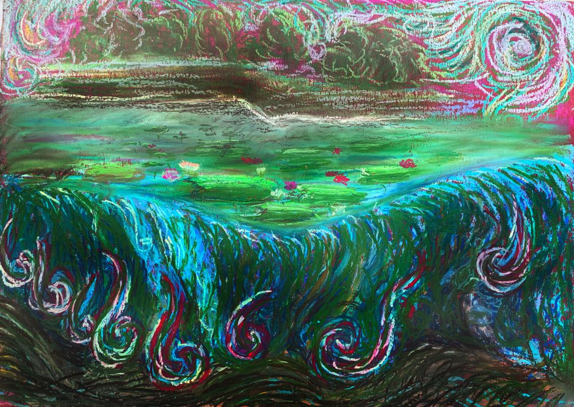 Irina Tabolova. Wild water lilies