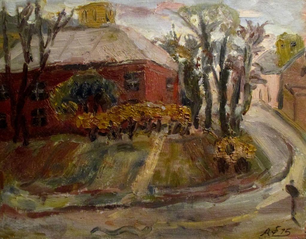 Alexey Frolov-Bagreev. Landscape with red house