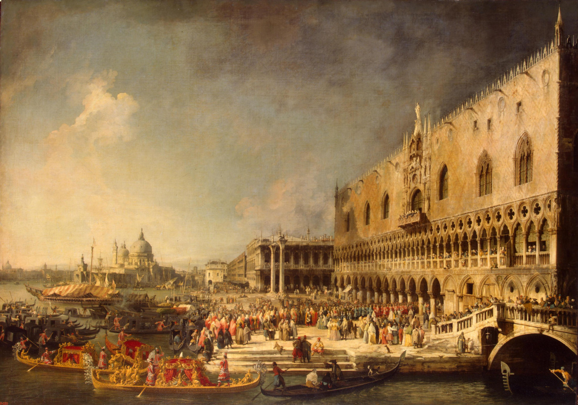 Giovanni Antonio Canal (Canaletto). Arrival of the French ambassador to Venice