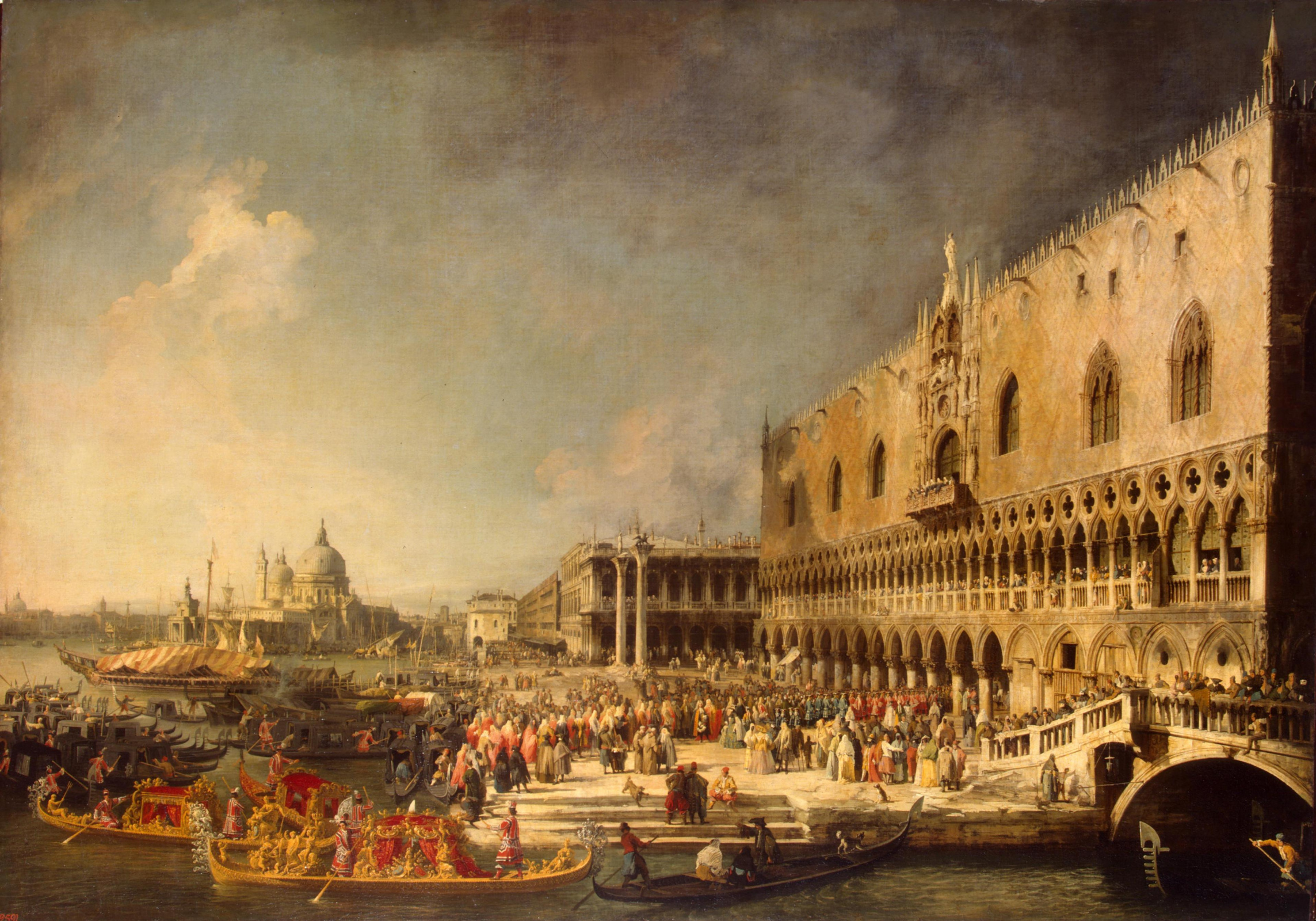 Джованни Антонио Каналь (Каналетто). Прием французского посла в Венеции