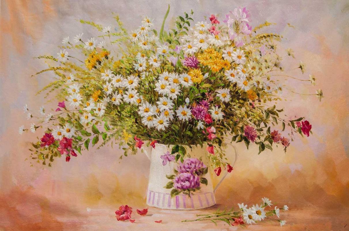 Andrzej Vlodarczyk. Букет ромашек и луговых цветов