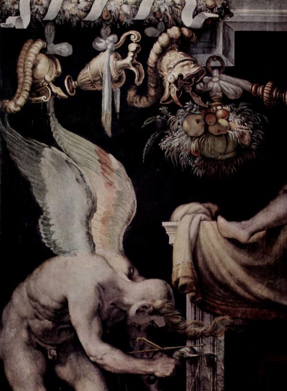 Francesco Salviati. A fragment of wall painting