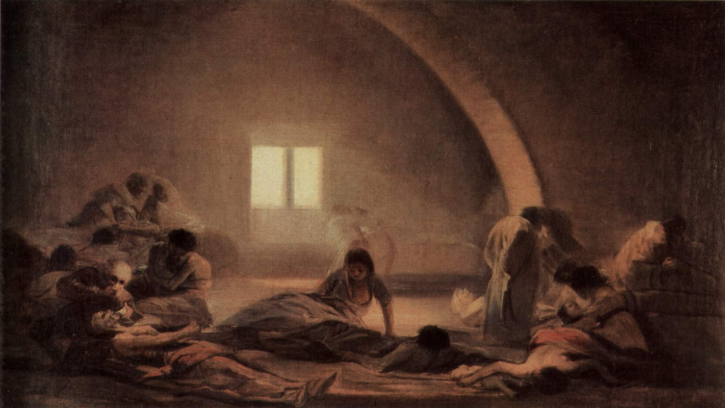 Cycle Of Paintings The Horrors Of War Pesthouse By Francisco Goya - Francisco goya paintings