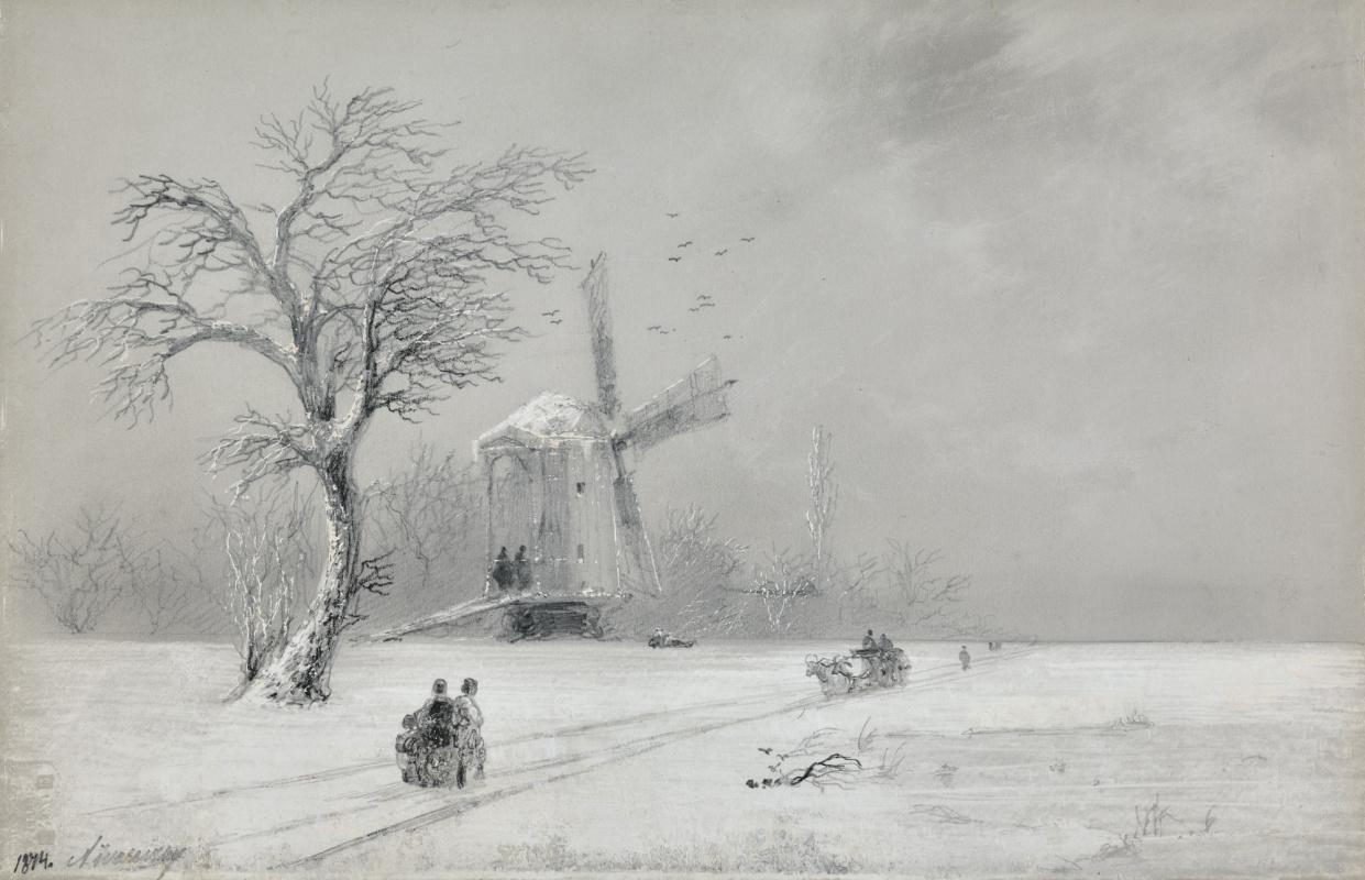 Ivan Aivazovsky. Winter in Ukraine