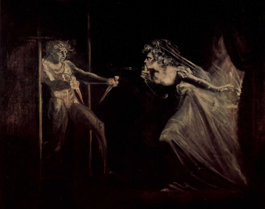 Johann Heinrich Fuessli. Daggers to lady Macbeth