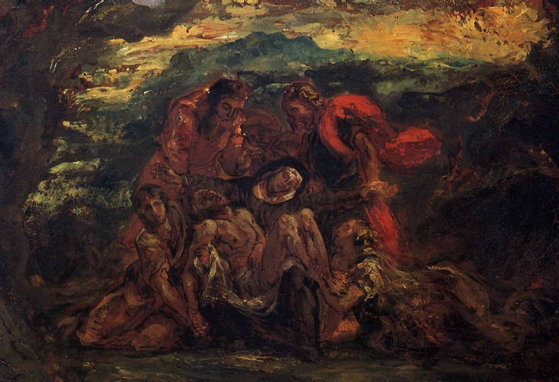 Эжен Делакруа. Пьета. Эскиз для росписи стен в церкви Сен-Дени-дю-Сен-Сакреман в Париже