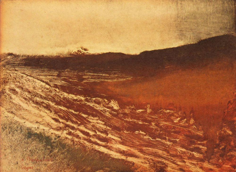 Эдгар Дега. Пейзаж в Бургундии