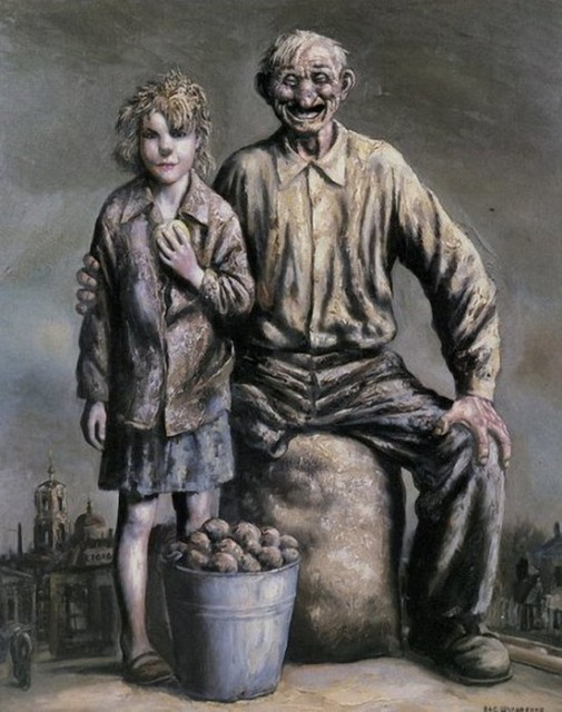 Vasily Vladimirovich Shulzhenko. Sellers of potatoes