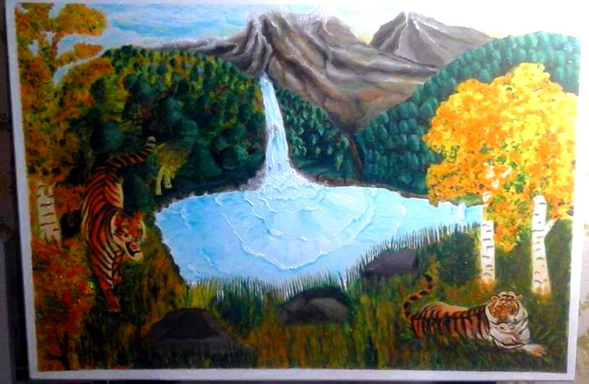 Victor Vladimirovich Weaver. Mountain Lake