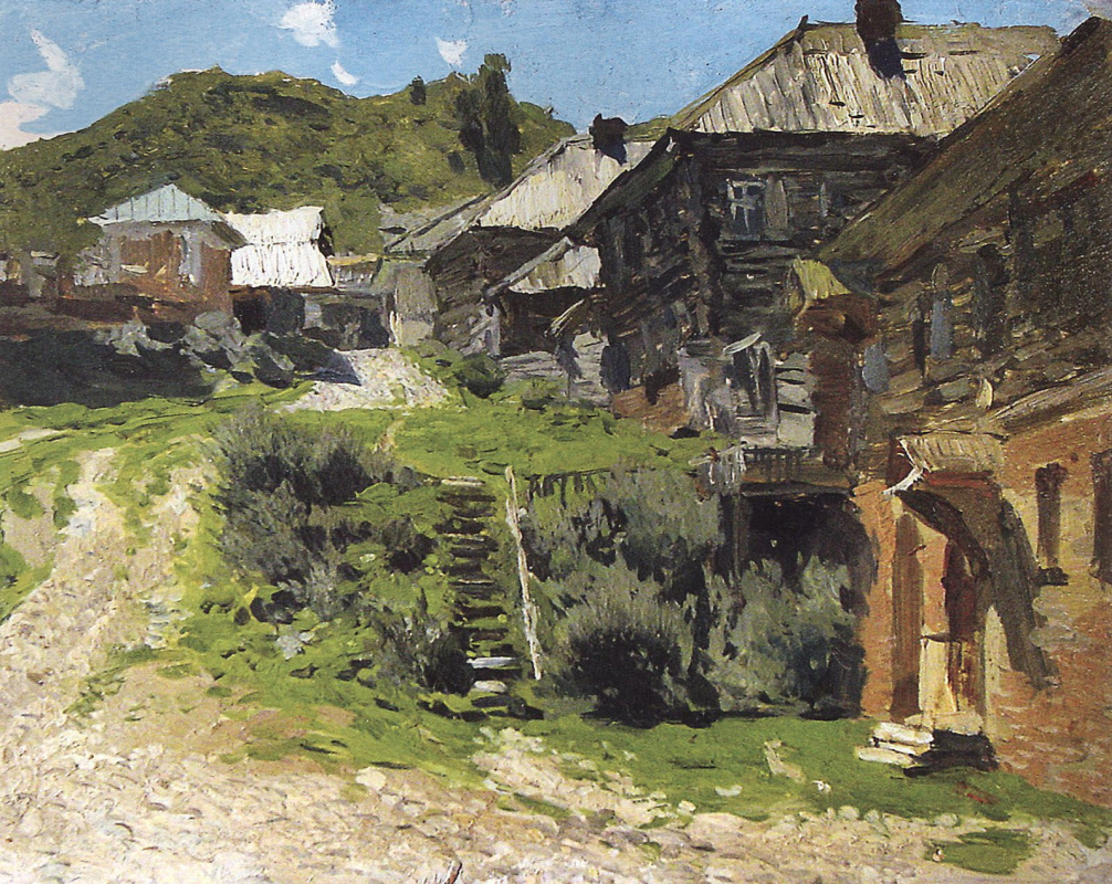 Isaac Levitan. Area in ples