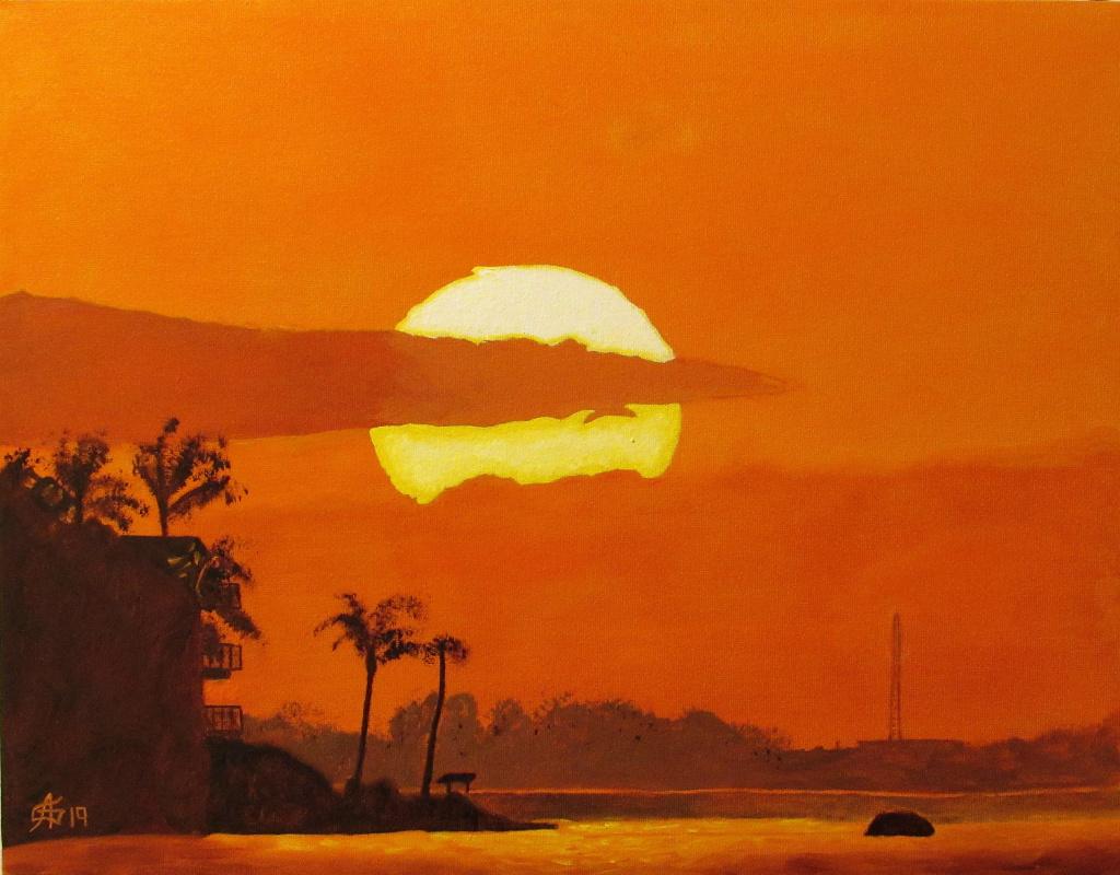 Artashes Badalyan. Orange sky - x-map. - 35x45