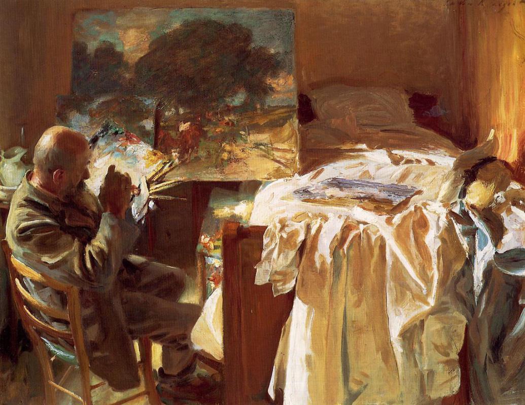 John Singer Sargent. The artist in his Studio