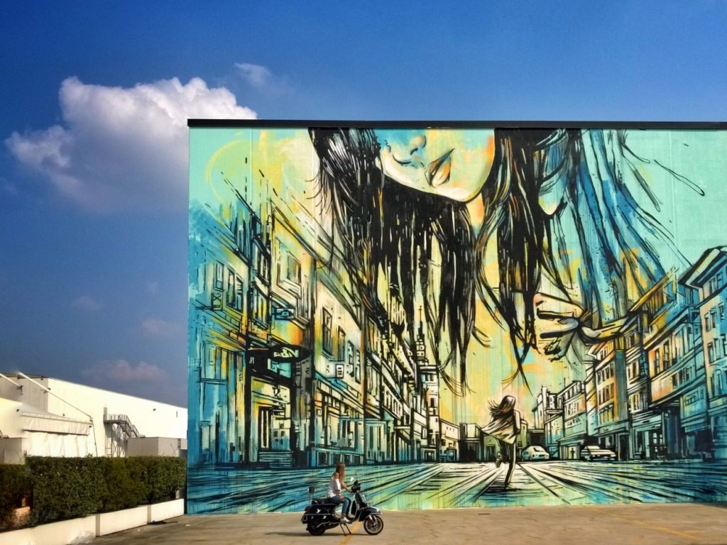 Alice Pascini. Mural in Campejin