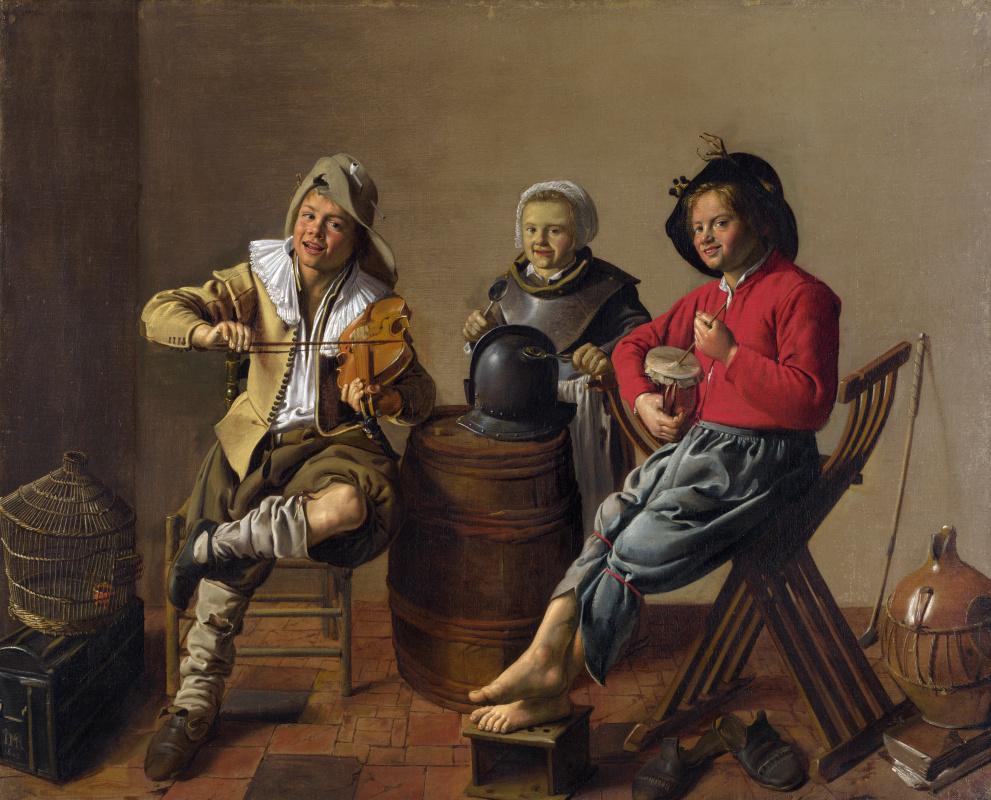 Ян Минсе Молинар. Два мальчика и девочка пишут музыку
