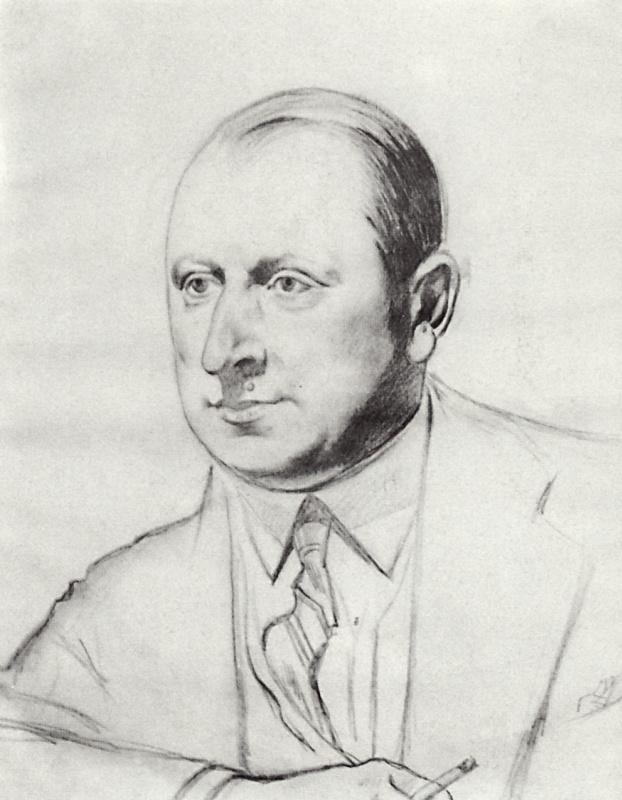 Борис Михайлович Кустодиев. Портрет Б.А. Горин-Горяйнова