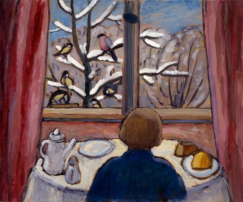 Gabriele Münter. Breakfast with the birds