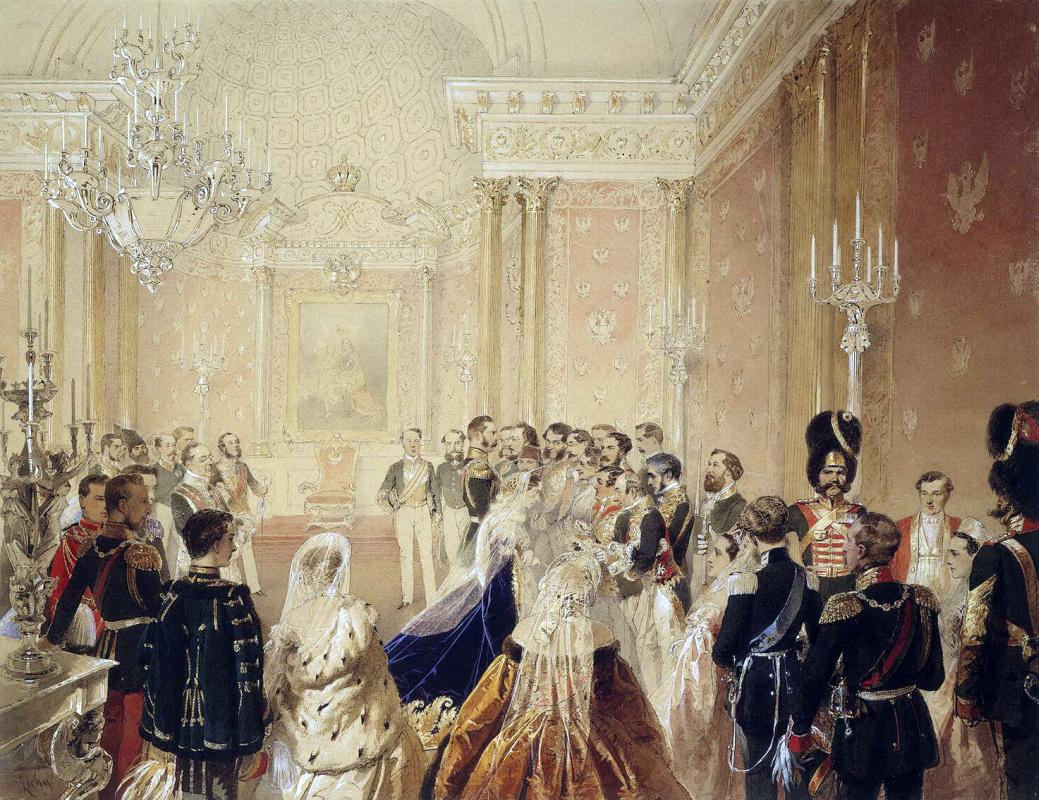 Михай Зичи. Поздравление Александра II