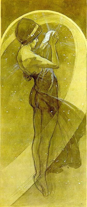 Alfons Mucha. North star