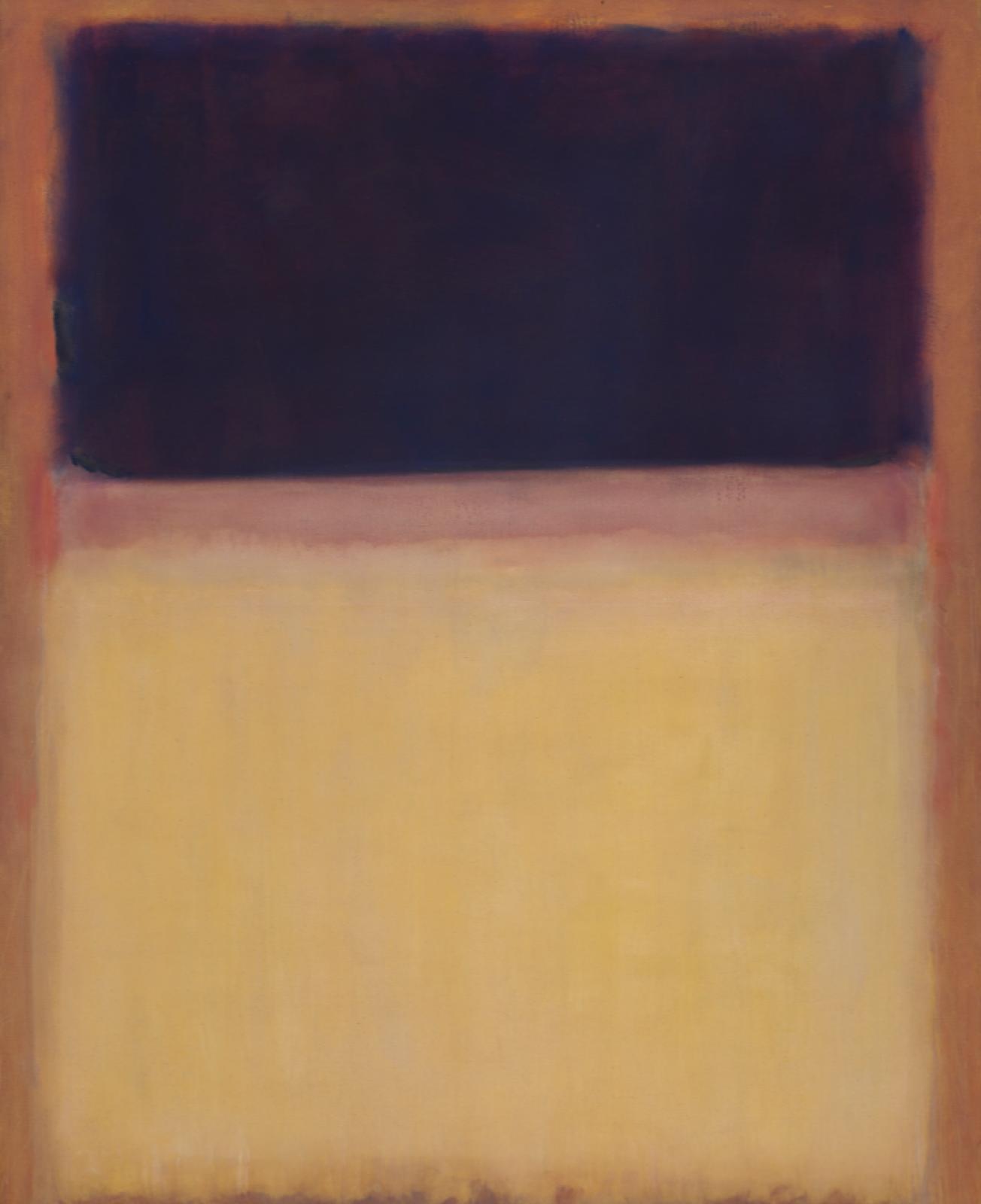 Марк Ротко. № 9 (Темный на светлом землистом, фиолетовый и желтый на розовом)
