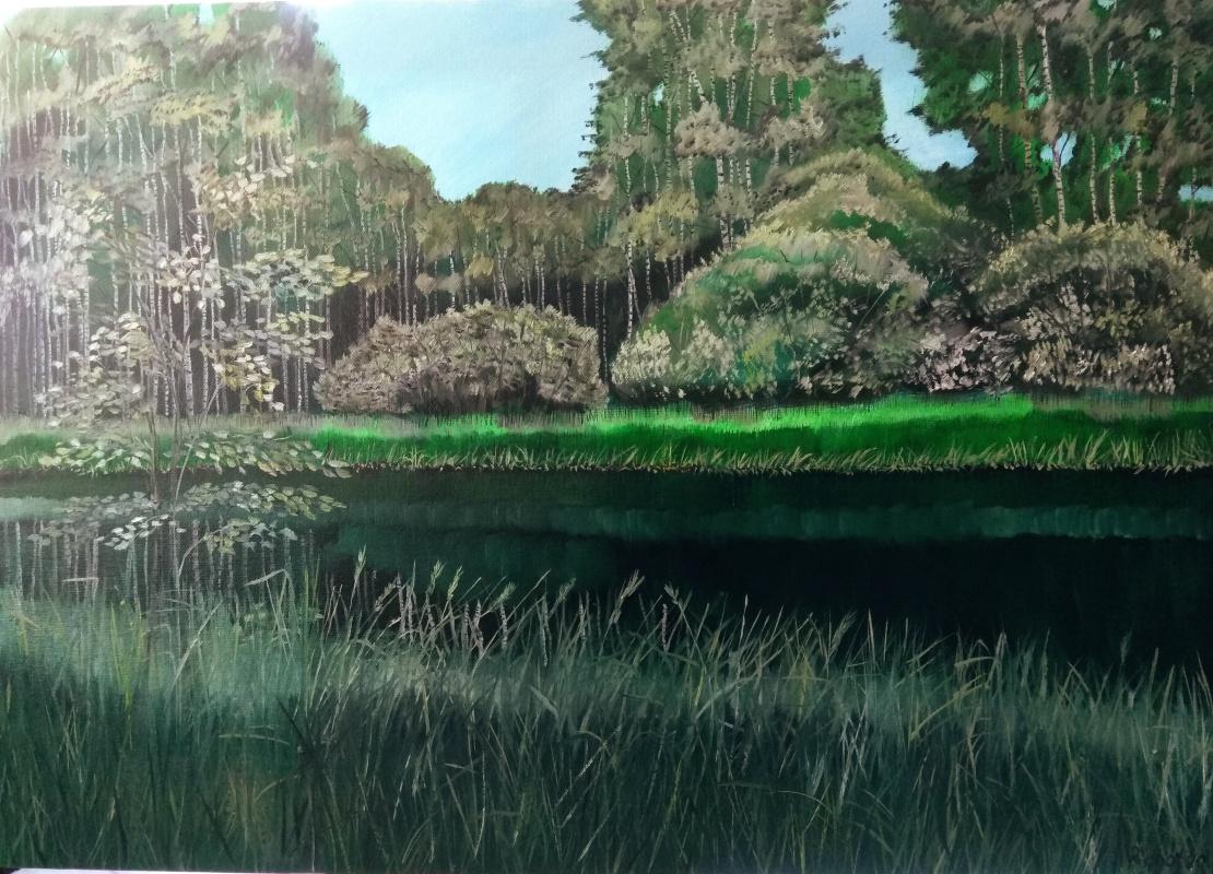 Vladimir Adamovich Ropot. Forest pond